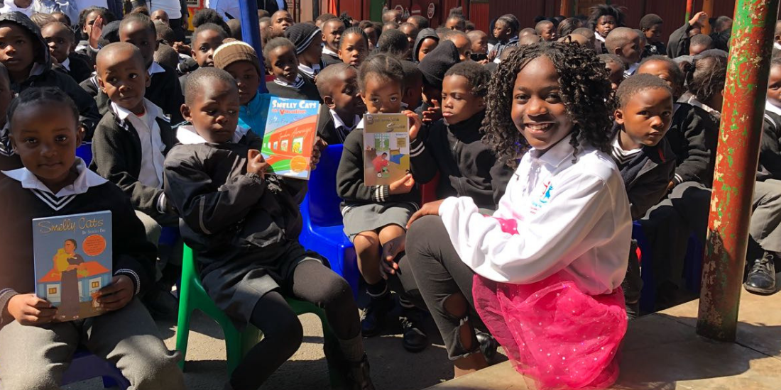 11-year-old author inspires children with Book Week reading